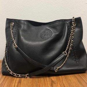 Tory Burch black Marion tote